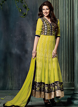 Embroidered Sonal Bendre Ankle Length Anarkali Suit