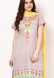 Fab Hand Woven Khadi Plus Size Churidar