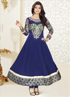 Fabulous Blue Georgette Ankle Length Anarkali Suit