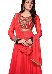 Fabulous Pink Georgette Anarkali Suit
