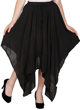 Famous By Payal Kapoor Black Asymmetrical Skirt
