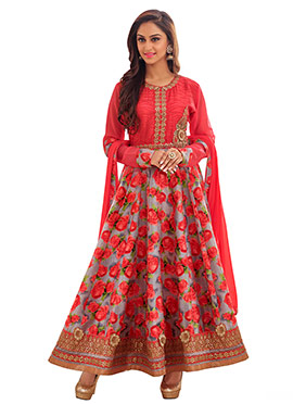 Floral Krystle Dsouza Anarkali Suit