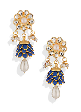 Floral Style Embellished Drop Earrings