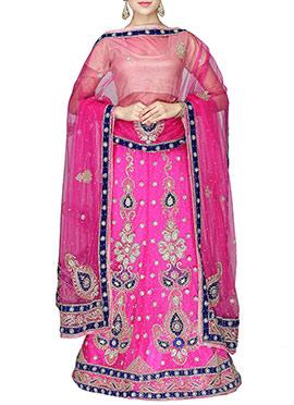 Fuchsia Pink Heavy Enhanced Lehenga Choli