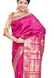 Genteel Handloom Pure Sonmukhi Silk Saree