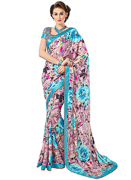 Geometric Patterned Multicolored Saree