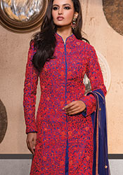 Georgette Heavy Embroidered Straight Suit