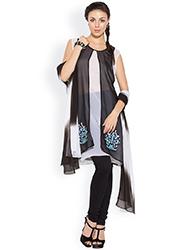 Georgette Layered Plus Size Churidar Suit
