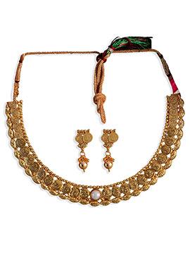 Gold Elegant Coins Necklace Set
