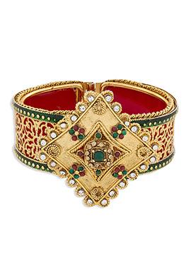 Gold N Red Colored Bracelet