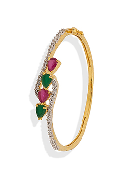 Gold Stone Studded Bangle