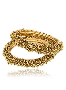 Golden Beads Bangles