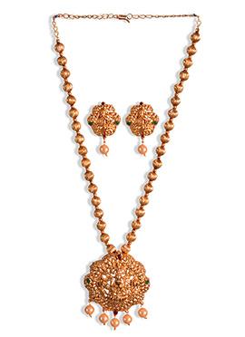 Golden Beads Necklace Set