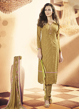 Golden Beige Churidar Suit