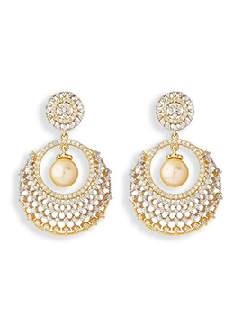 Golden Color Embellished Chand Balis