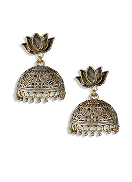 Golden Color Jhumka Earring