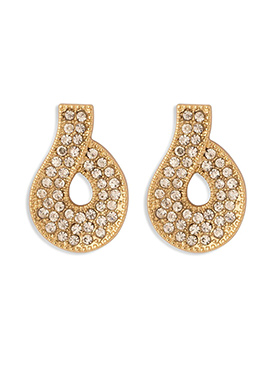 Golden Color Stone Studded Studs