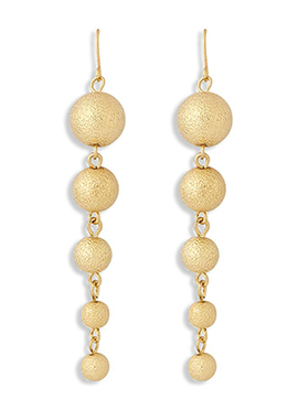 Golden Colored Bead Ball Patterned Hooks
