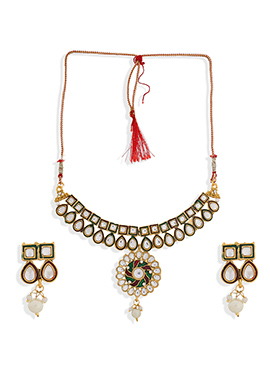 Golden Colored Necklace Set