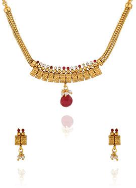 Golden Colored Necklace Set