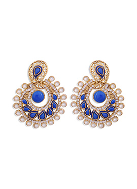 Golden N Blue Colored Chand Balis