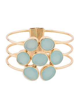 Golden N Sea Blue Bracelet