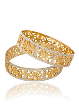 Golden N Silver Bangles