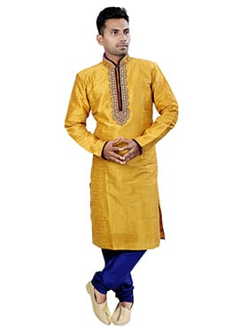 Golden Yellow Kurta Pyjama