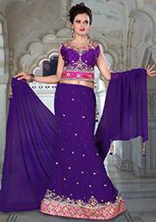 Gorgeous Purple Georgette Lehenga Choli