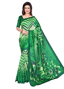 Green Art Silk Ombre Dyed Saree