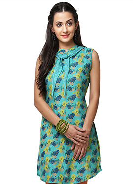 Green Cotton kurti from Home India