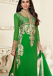 Green Georgette Palazzo Pant Suit