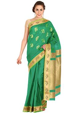 Green Jacquard Cotton Saree
