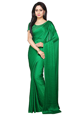 Green Jacquard Saree