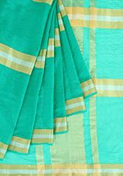 Green Kora Net Saree