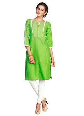 Green Maybell Cotton Kurti