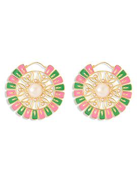 Green N Pink Danglers