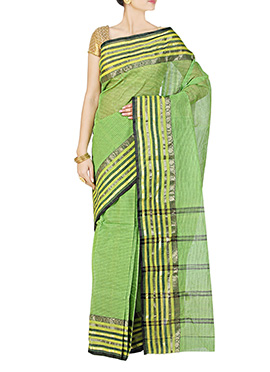 Green Pure Cotton Handloom Saree