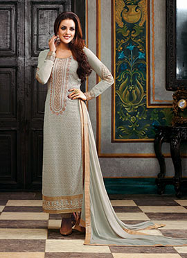 Grey Georgette Pakistani Suit