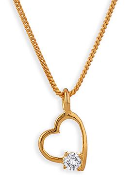 Heart Motif Stone Studded Pendant