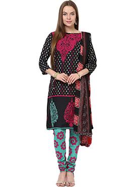 Home India Black Churidar Suit