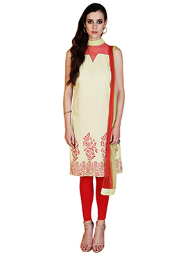 Home India Green Churidar suit