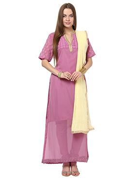 Home India Mauve Straight Suit