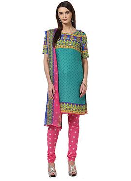 Home India Multicolor Churidar suit