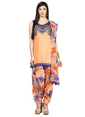 Home India Peach Patiala Suit