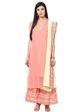 Home India Peach Salwar Kameez Set