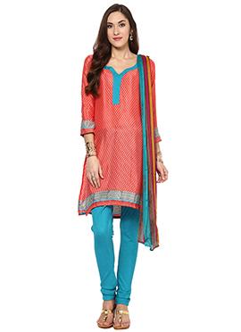 Home India Pink Churidar suit