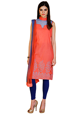 Home India Red Churidar suit