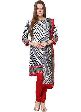 Home India Tricolored Churidar Suit
