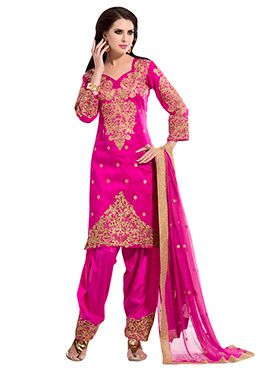Hot Pink Salwar Suit